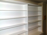fitted alcove bookcase